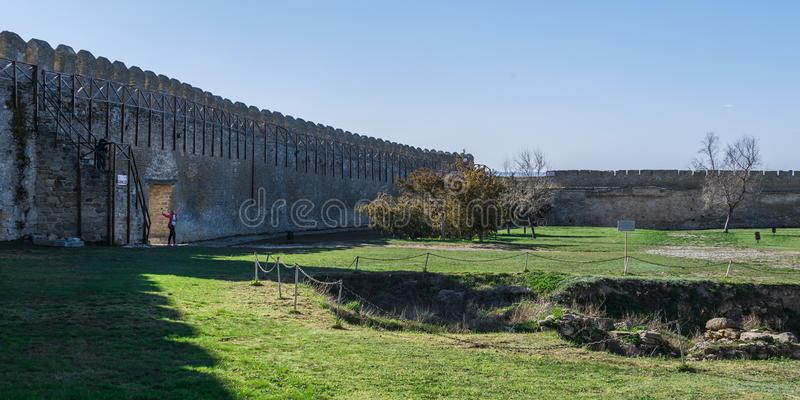 Open Air Museum inside the Akkerman Citadel in Ukraine. Akkerman, Ukraine - 03.23.2019. Open Air Museum inside the Akkerman Citadel , a historical and stock photo