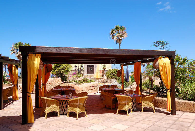 Download Open-air Restaurant At Luxury Hotel Stock Image - Image: 20957093