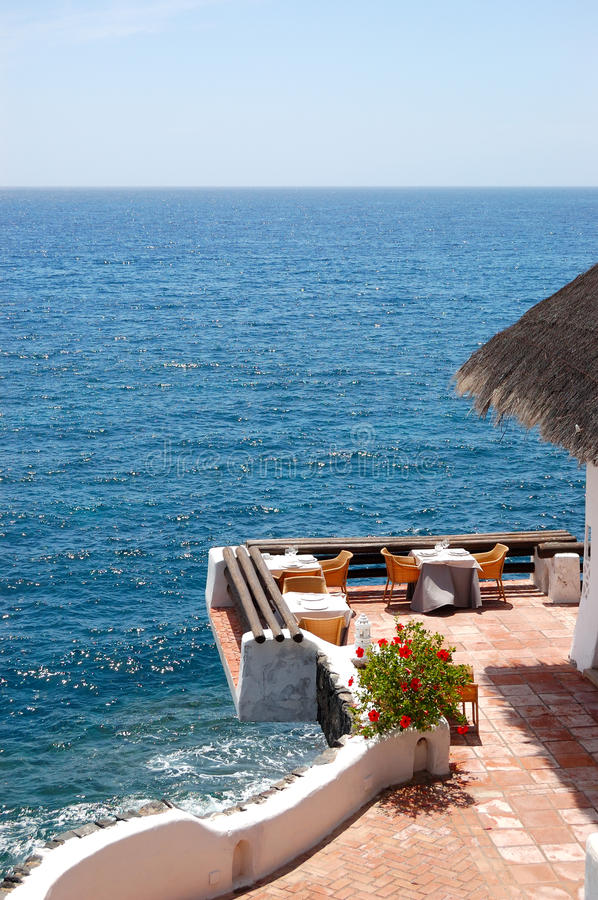 Free Open-air Restaurant With A View On Atlantic Ocean Royalty Free Stock Photo - 30468135