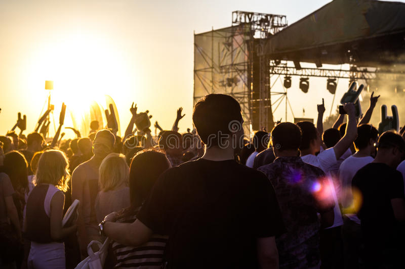 Open air rock concert royalty free stock image