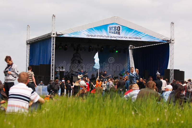 Download Open-air rock festival editorial photo. Image of band - 14513196