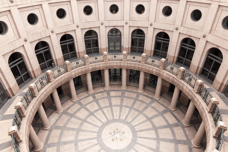 Open-Air Rotunda at Texas State Capitol in Austin royalty free stock image