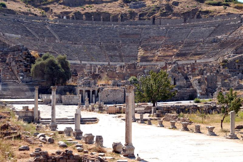 Download Open-air Theater, Ephesus, Turkey Stock Image - Image of graphics, efes: 13556161