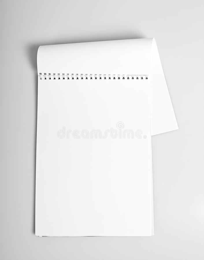 Open album with blank pages royalty free stock image