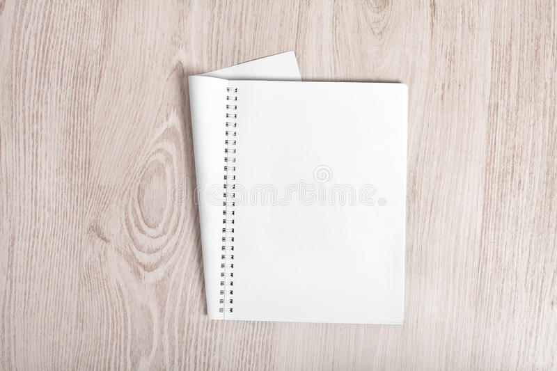 Open album with blank pages royalty free stock images