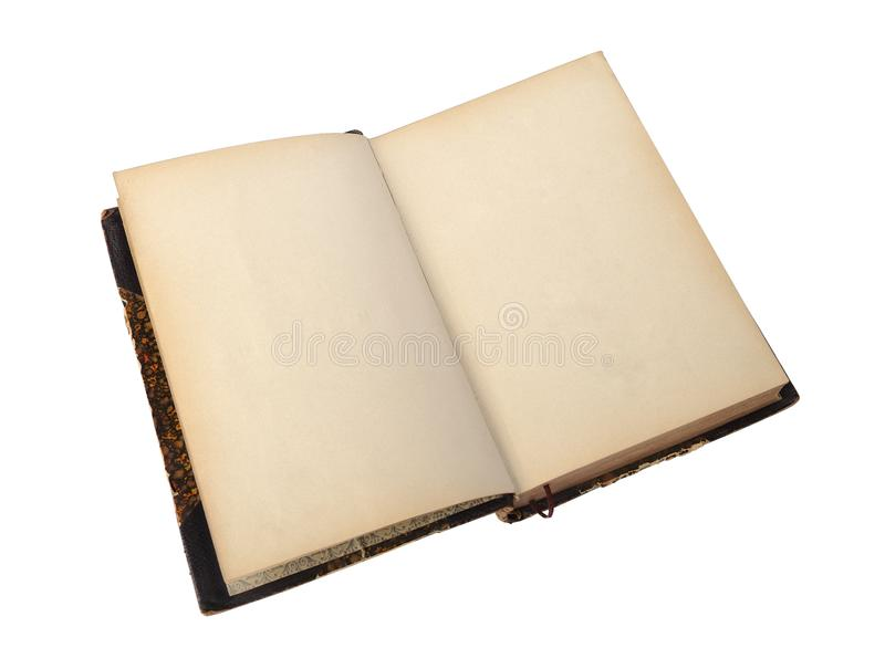 Open antique book royalty free stock images