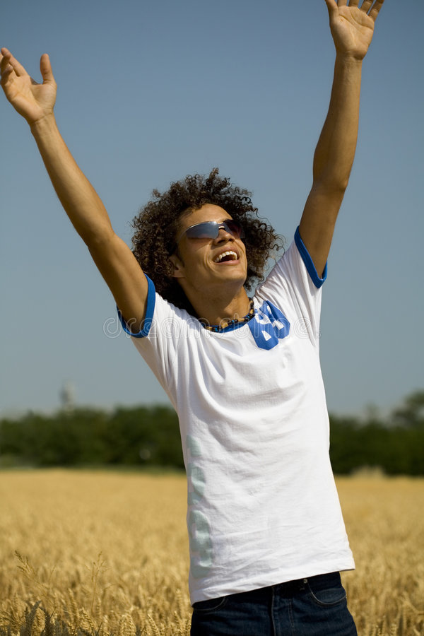 Open arms stock images
