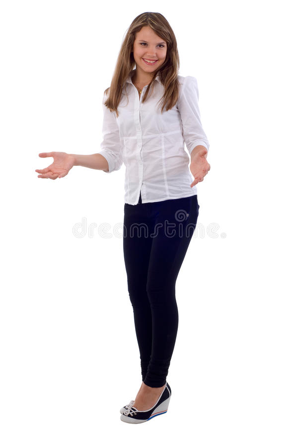 Open Arms Girl. Royalty Free Stock Photography