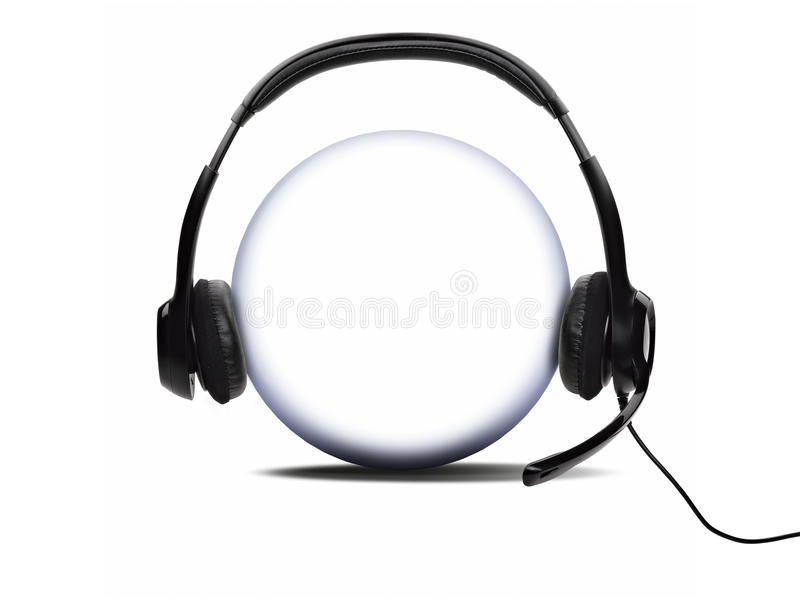 Open audio headset stock illustration