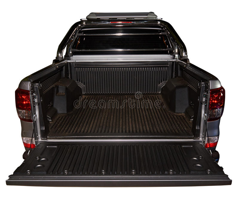 Open back of pick up truck stock image