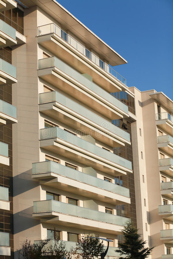 Download Open Balconies, Modern Apartment Building. Stock Photo   Image Of  Open, Living