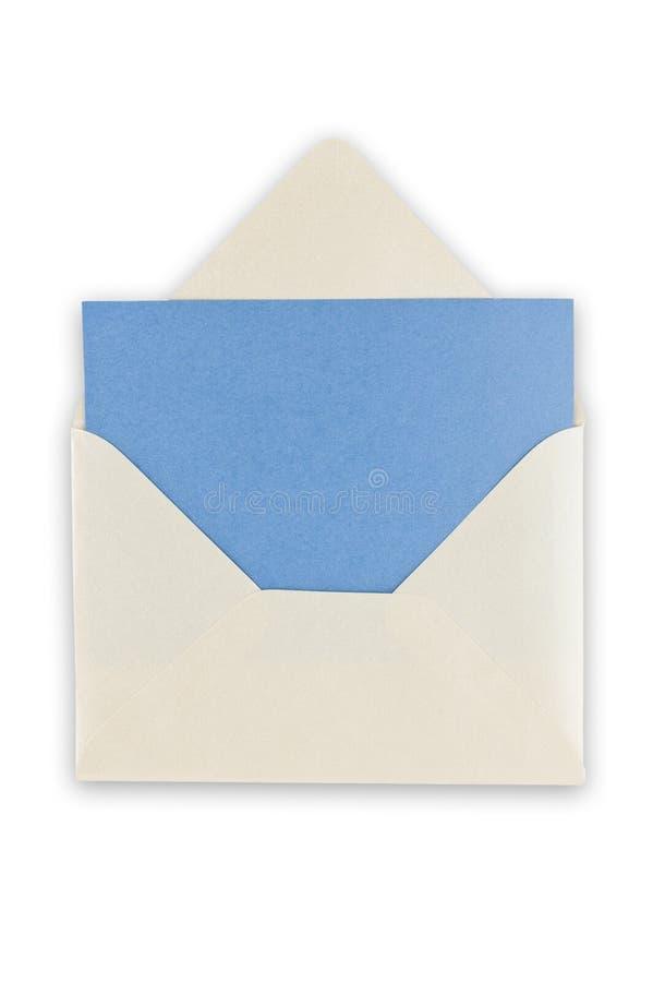 Open balnk white envelope.