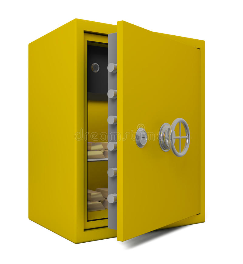 Download Open Bank Safe With Gold Stock Images - Image: 15177134
