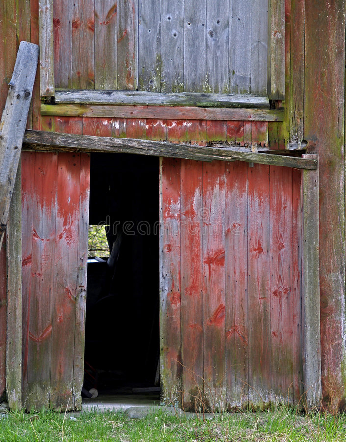 Open Barn Door Stock Image Image Of Boards Rotted Building 4153135