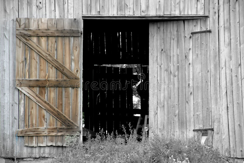 Open Barn Door Stock Image Image Of Barns Farm Barn