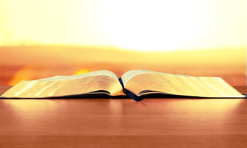 Open Bible stock images