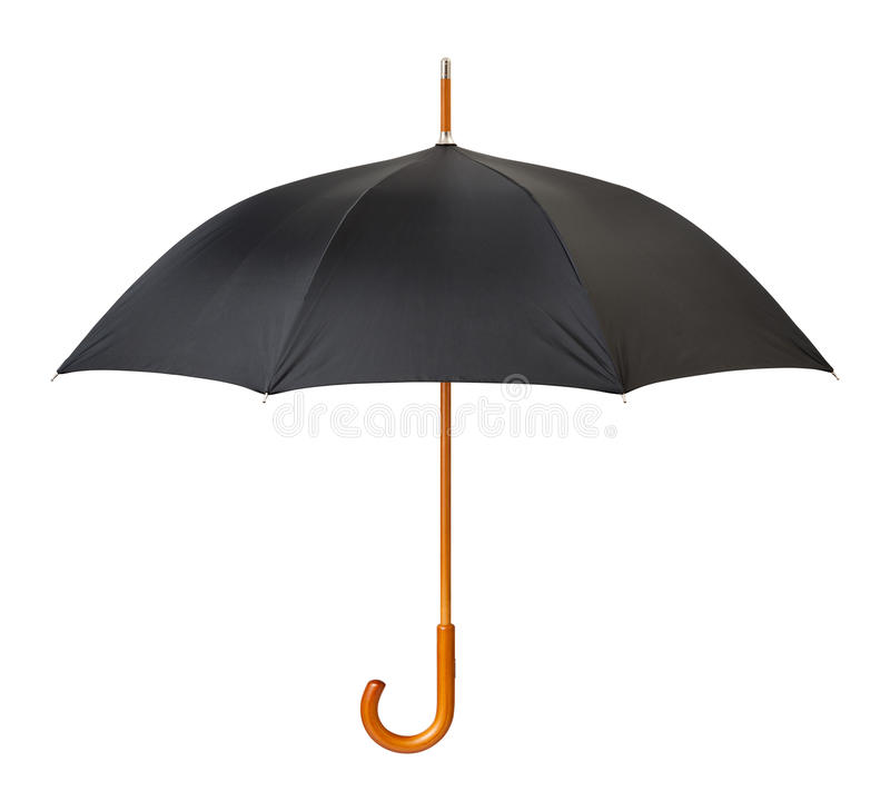 Open Black Umbrella isolated stock photos