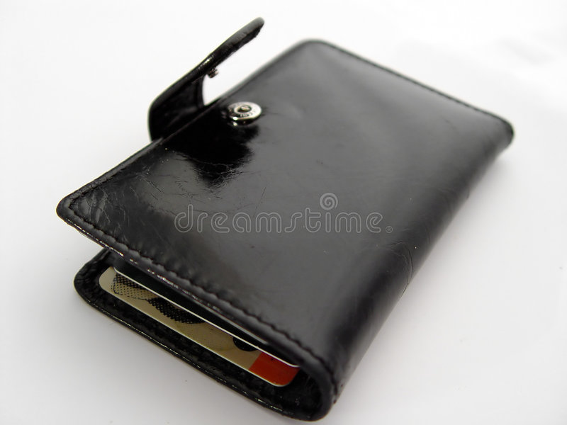Download Open Black Wallet Royalty Free Stock Image - Image: 10596