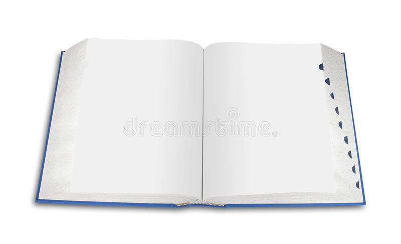 Download Open blank book, isolated stock photo. Image of school - 15973748