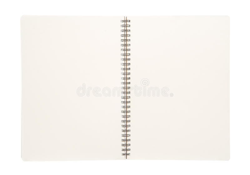 Open blank book isolated on white stock photos