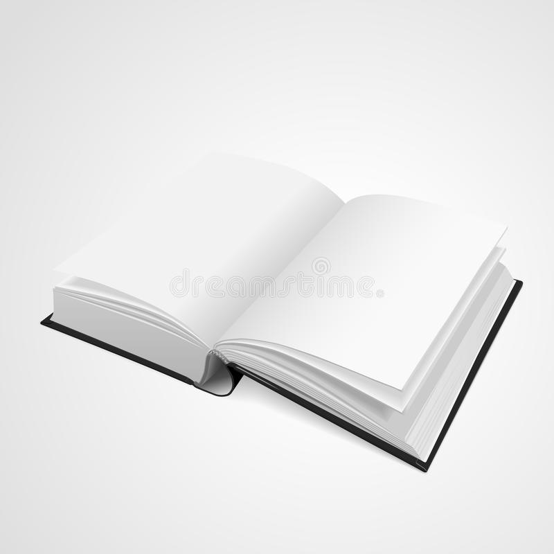 Open blank book royalty free illustration