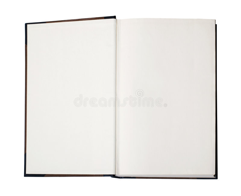 Open blank book with path stock photography