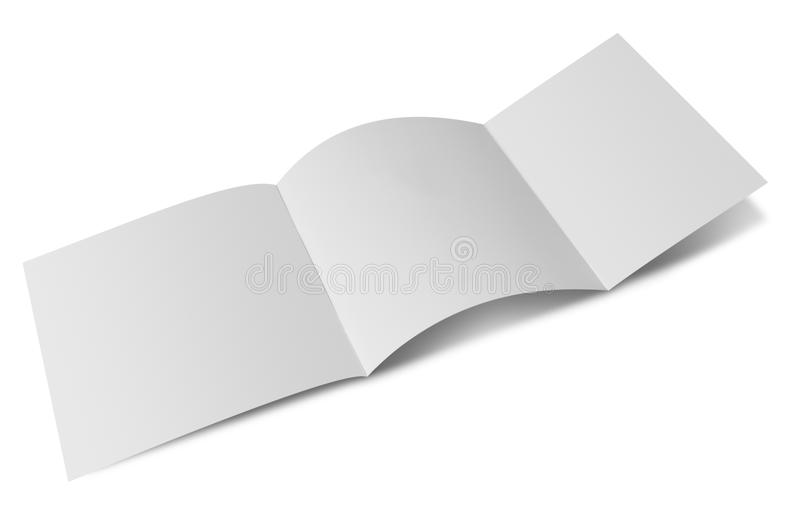 Open blank folded flyer. Ready for your content stock photo