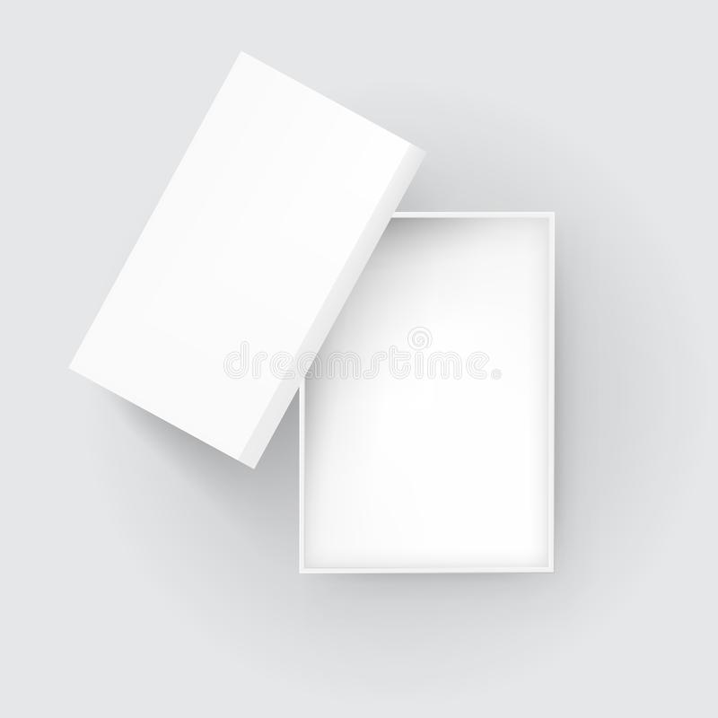 Open Blank Gift Box Top View stock illustration