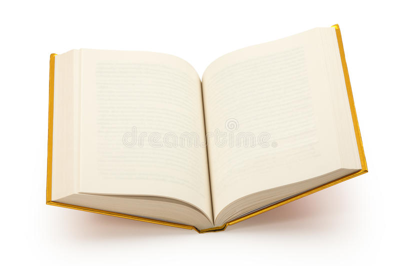 Open blank gold book-cilipping path royalty free stock photos