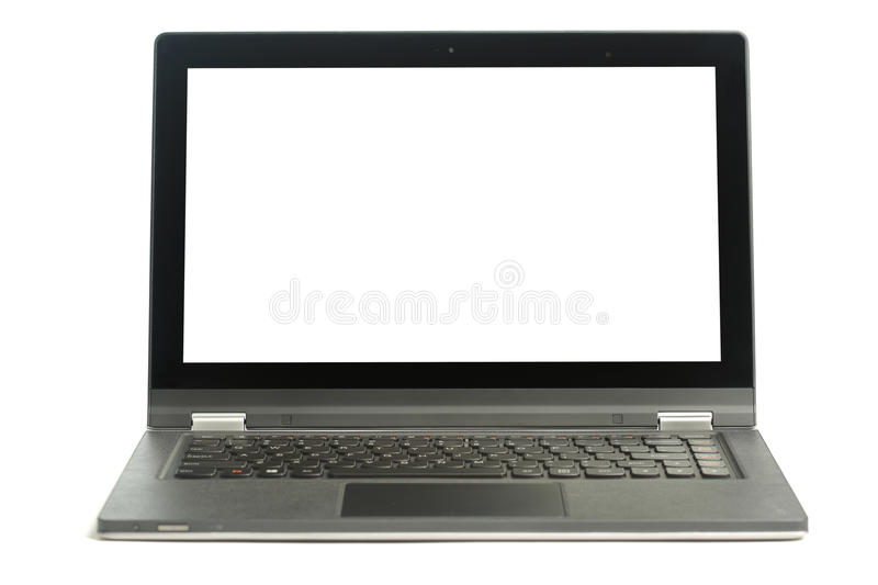 Download Open blank laptop stock image. Image of mobility, keyboard - 33566291