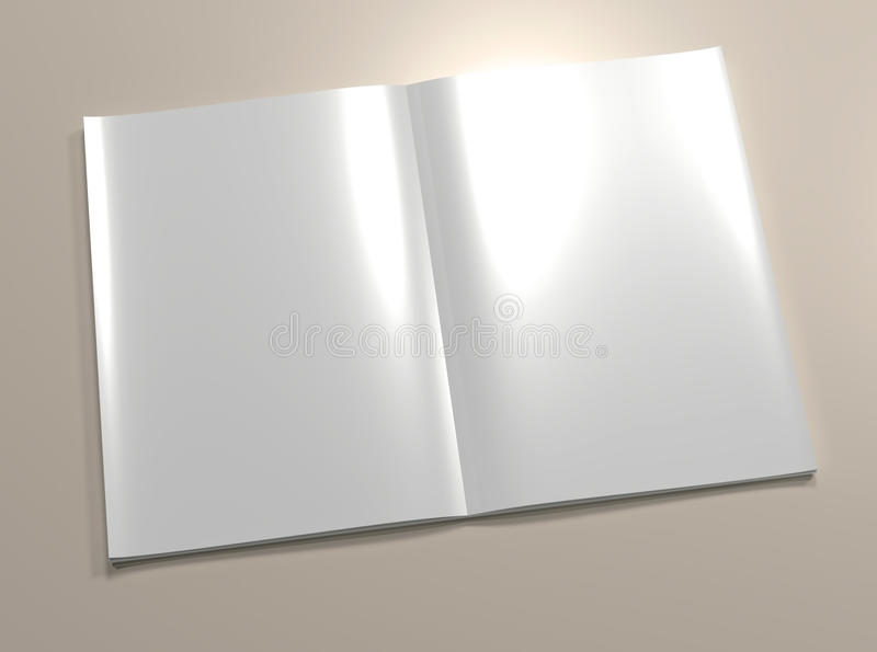 Download Open blank magazine page stock illustration. Image of journal - 17121932