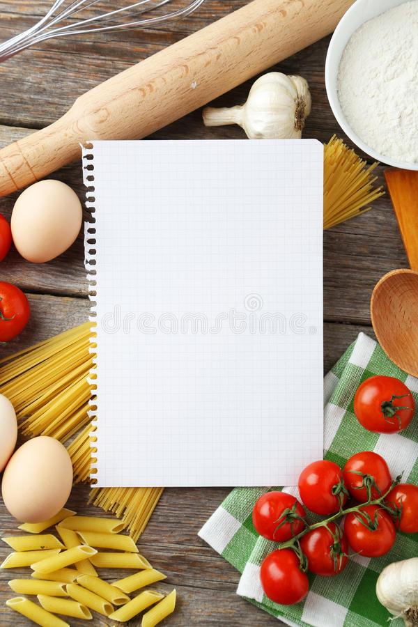 Open blank recipe book on grey wooden background stock image image download open blank recipe book on grey wooden background stock image image of empty forumfinder Choice Image