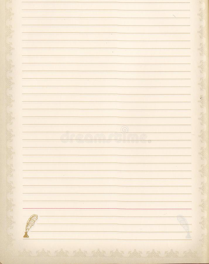 Open blank school notebook or diary, old fashioned, space for text, top view.  vector illustration