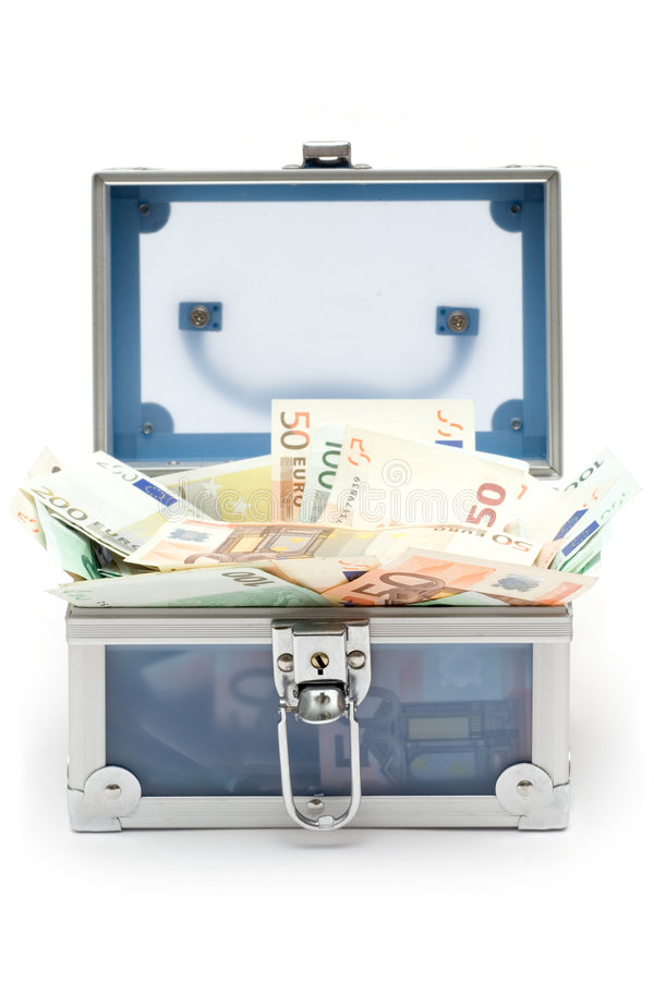 Free Open Blue Money Chest Royalty Free Stock Photo - 1960925
