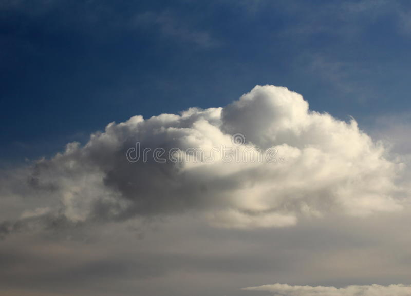 Open blue sky with big with cloud stock images