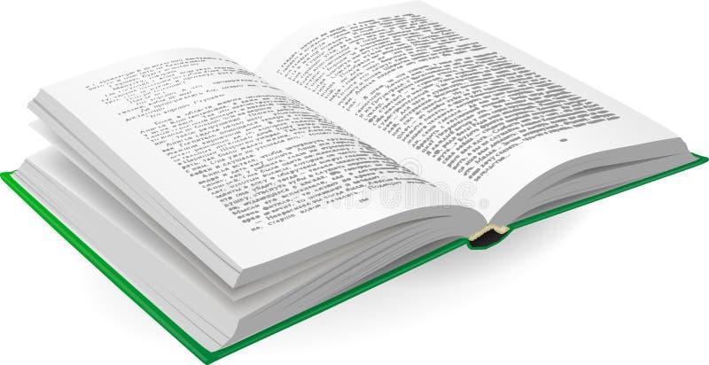 Open Boek vector illustratie
