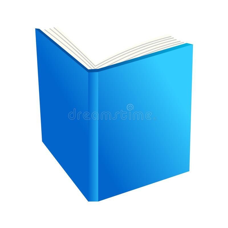 Open Boek De Vector van het boekpictogram stock illustratie