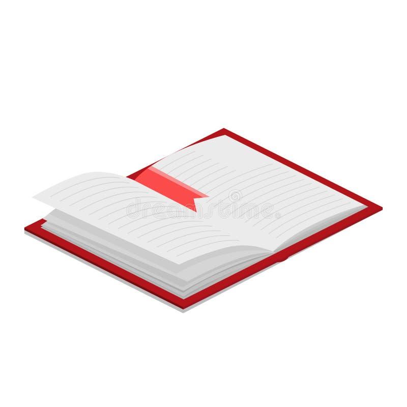 Open boek isometrische vectorillustratie vector illustratie