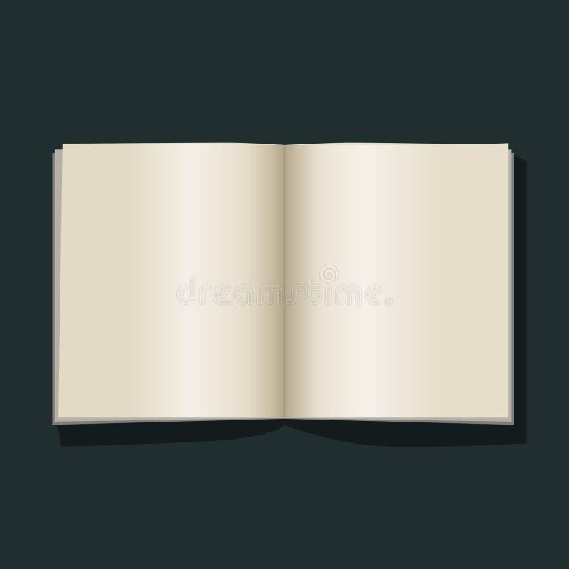 Open boek lege vectorillustratie, lege pagina's stock illustratie