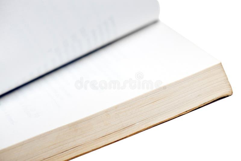 Open boek macroisolatie royalty-vrije stock afbeelding