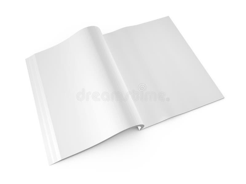 Open Boek met Blanco pagina's royalty-vrije illustratie