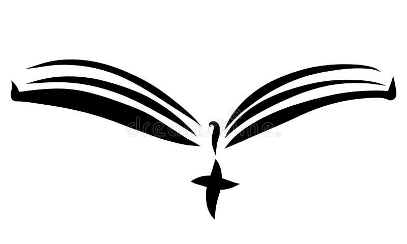 Open boek met een referentie en dwars, zwarte lijnen vector illustratie