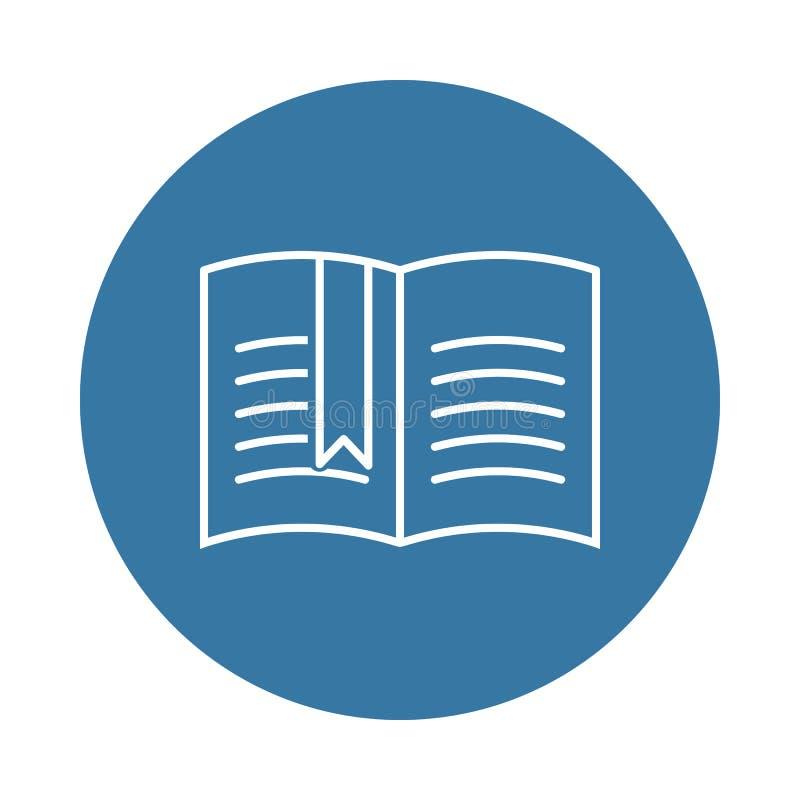 Open boek met een referentiepictogram Element van boeken en tijdschriftenpictogrammen voor mobiel concept en Web apps Het open bo stock illustratie