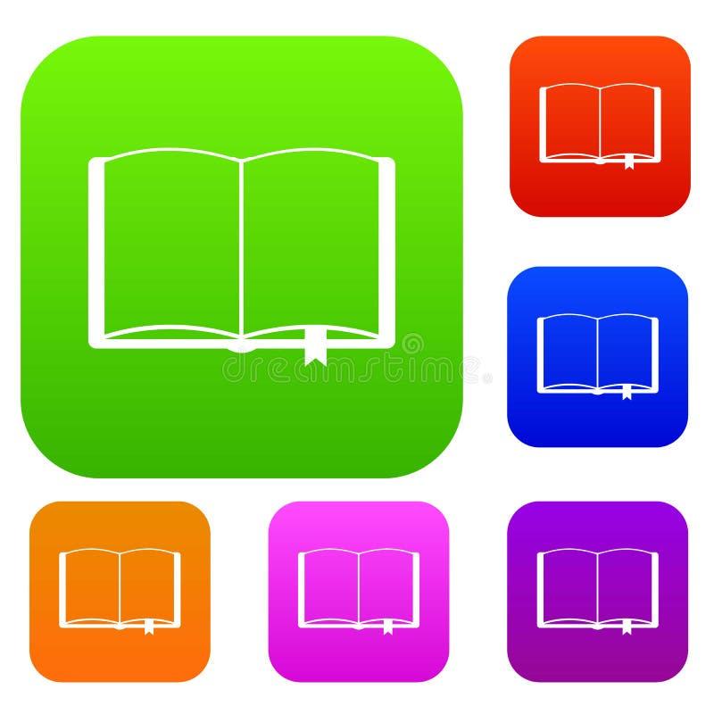 Open boek met referentie vastgestelde inzameling vector illustratie