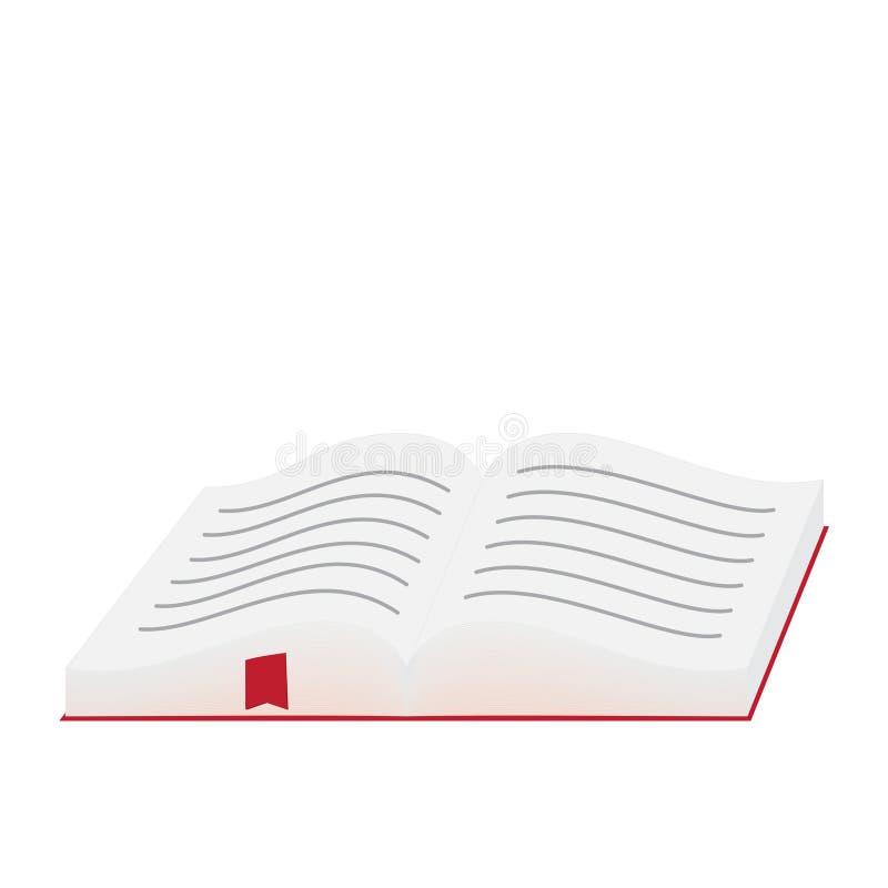 Open boek met referentie - vectorillustratie vector illustratie
