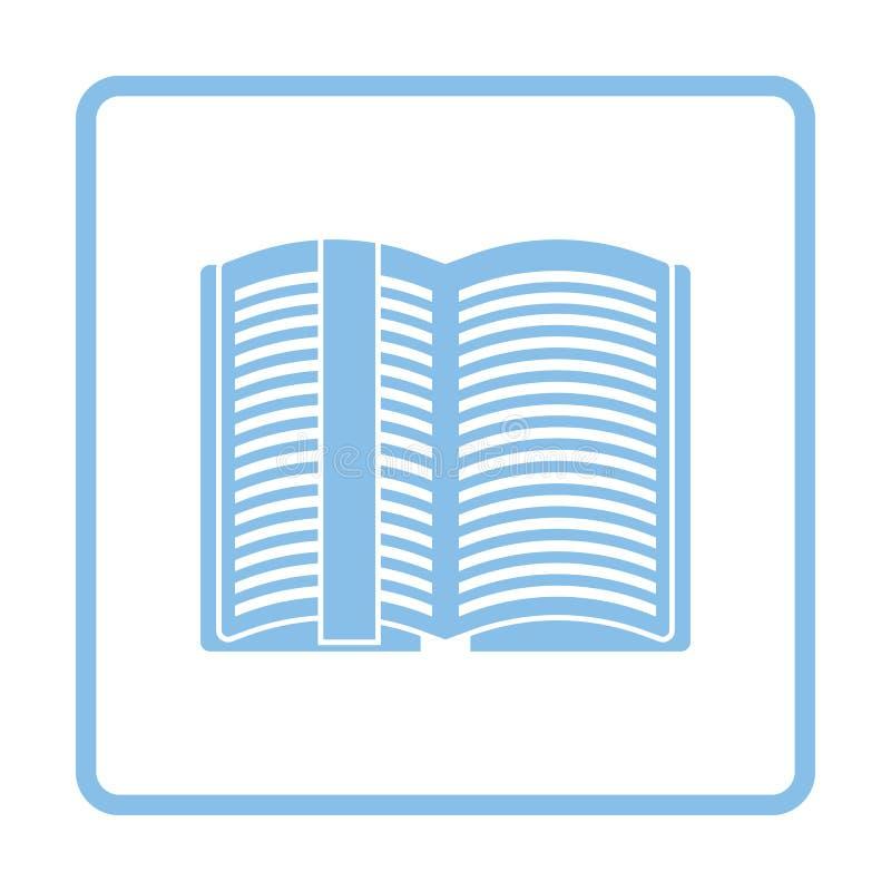 Open boek met referentiepictogram stock illustratie
