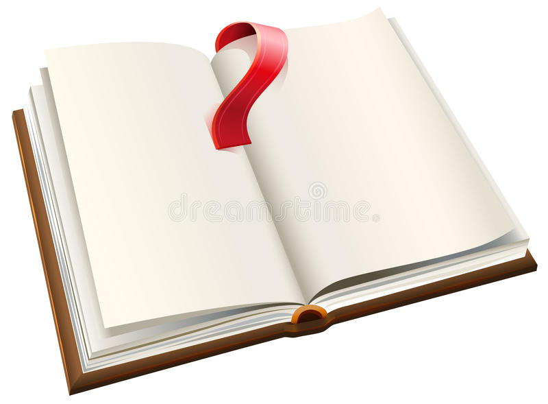 Open boek met rode referentie Open boek met blanco pagina's vector illustratie