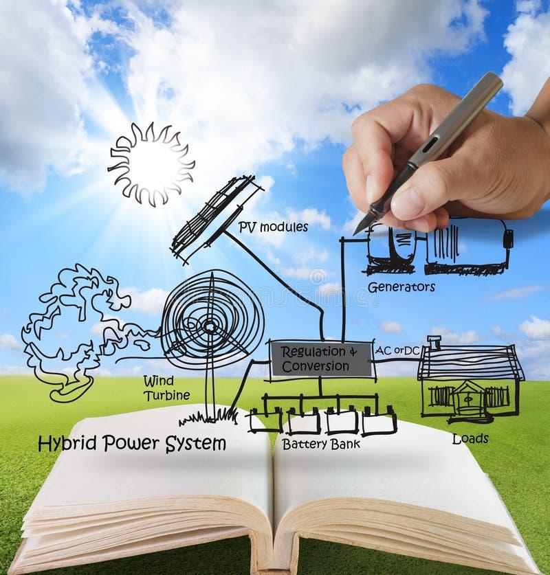 Open boek van ingenieur stock illustratie