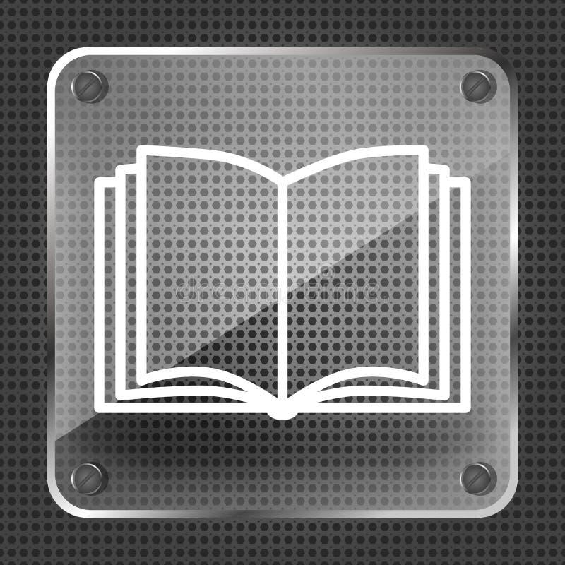 Open boek vectorpictogram royalty-vrije illustratie