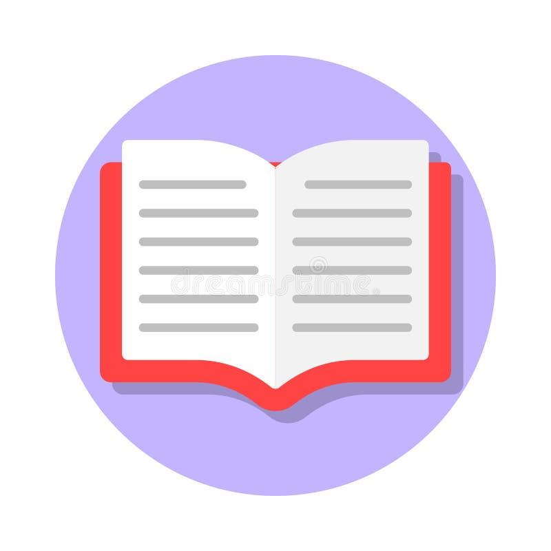 Open boek vlak pictogram vector illustratie